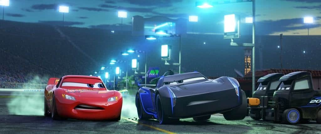I love a good side-eye in Cars 3. Are you team Lightning McQueen or Team Jackson Storm?