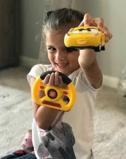 The Cruz Ramirez remote control car is everything for little girls!