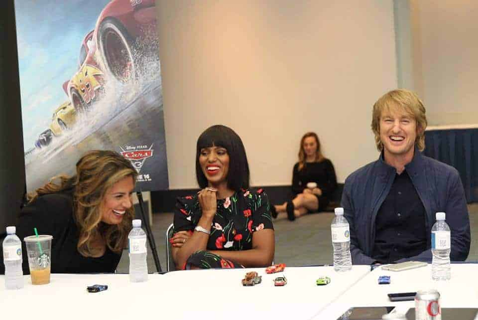 There were plenty of laughs and tears during the exclusive Cars 3 interview with Cristela Alonzo and Kerry Washington!