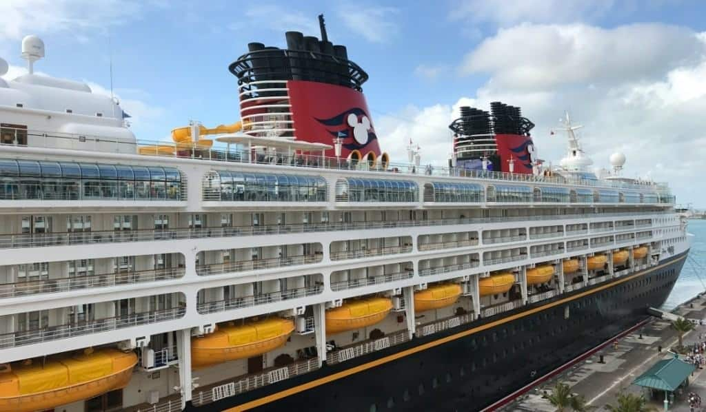 You can connect on Disney Cruise WiFi at dock and while at sea.