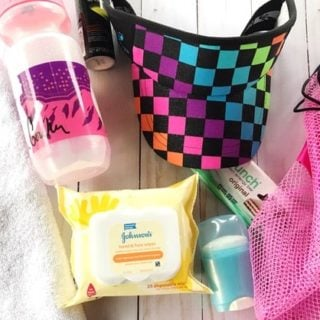 Here are 6 essential items you need in your gym bag! As a a busy mom, I try to reduce my smell at Walmart.