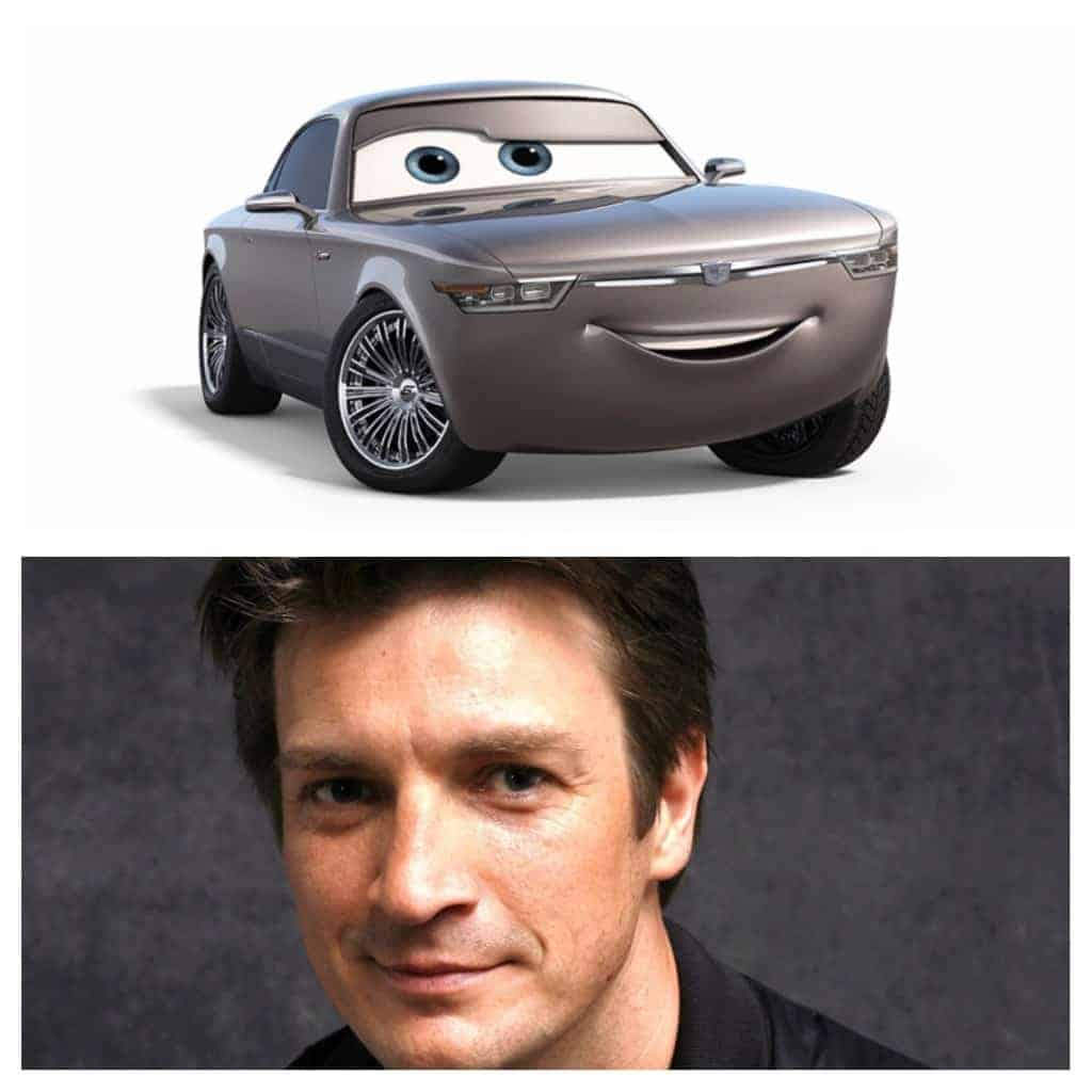 Nathan Fillion voices Sterling in Cars 3.