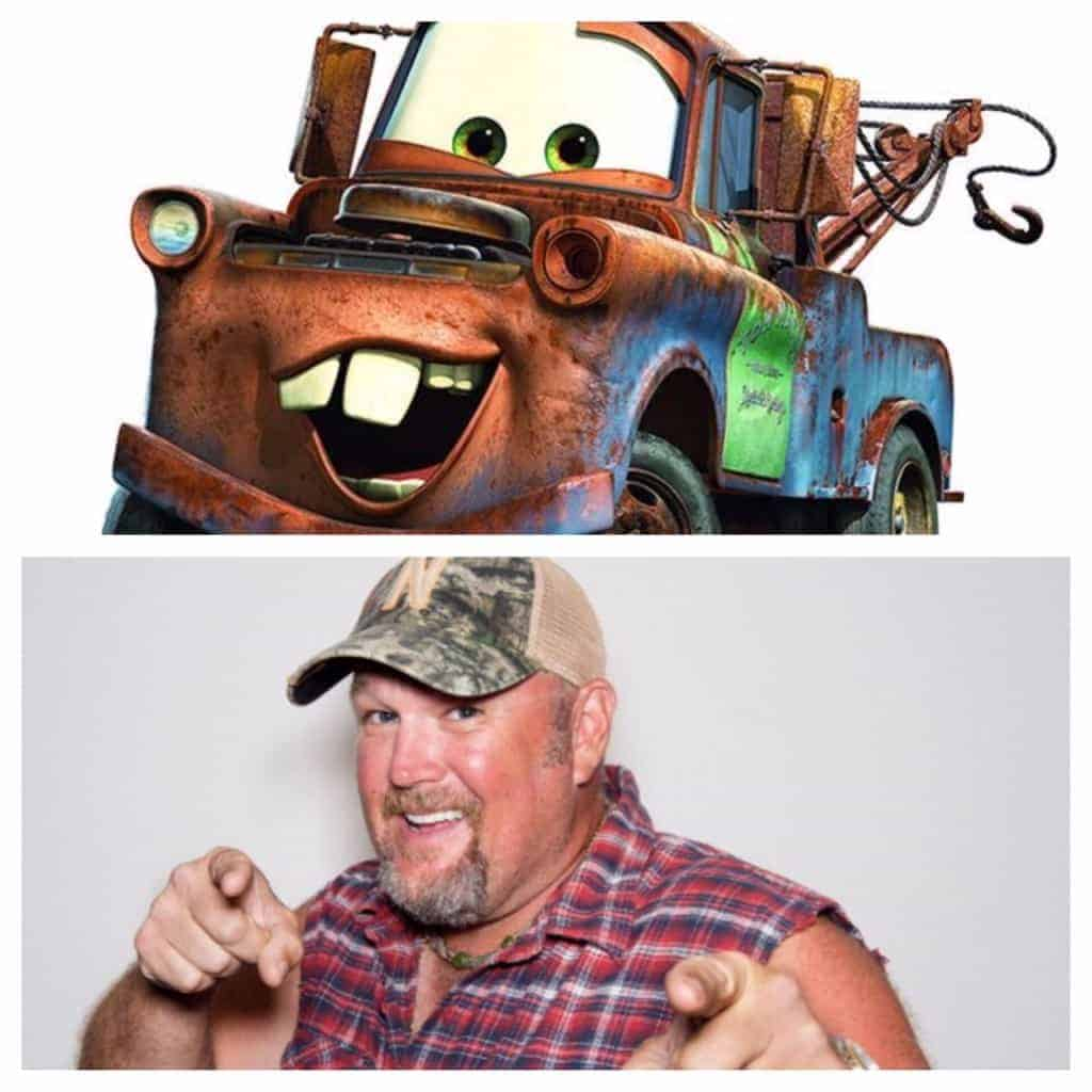 Larry the Cable Guy as Mater in Cars 3