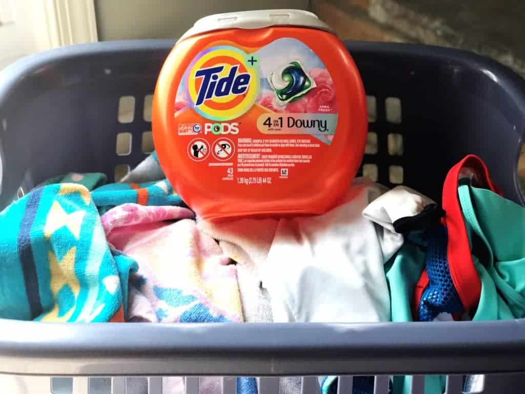 Some summer laundry tips include finding a good laundry detergent and putting wet clothes in a separate basket.