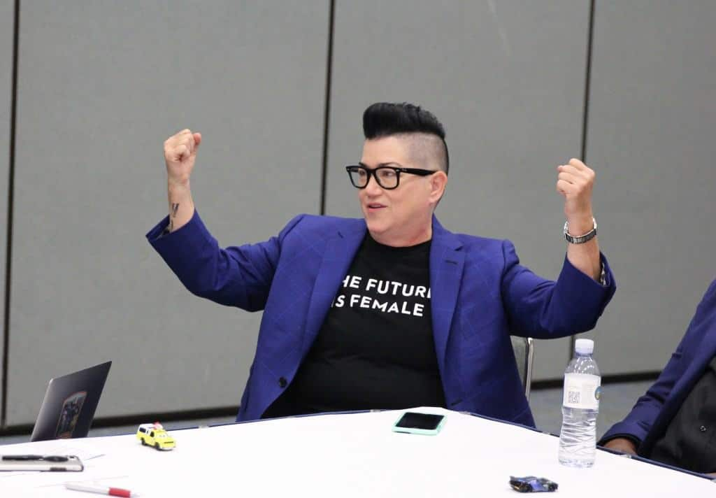 Lea DeLaria was a delight during our exclusive Cars 3 Cast Interview for the Cars 3 Event!