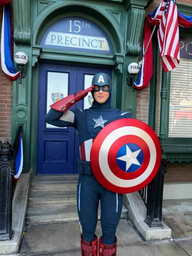 Visit Captain America during Summer of Heroes at Disney California Adventure!