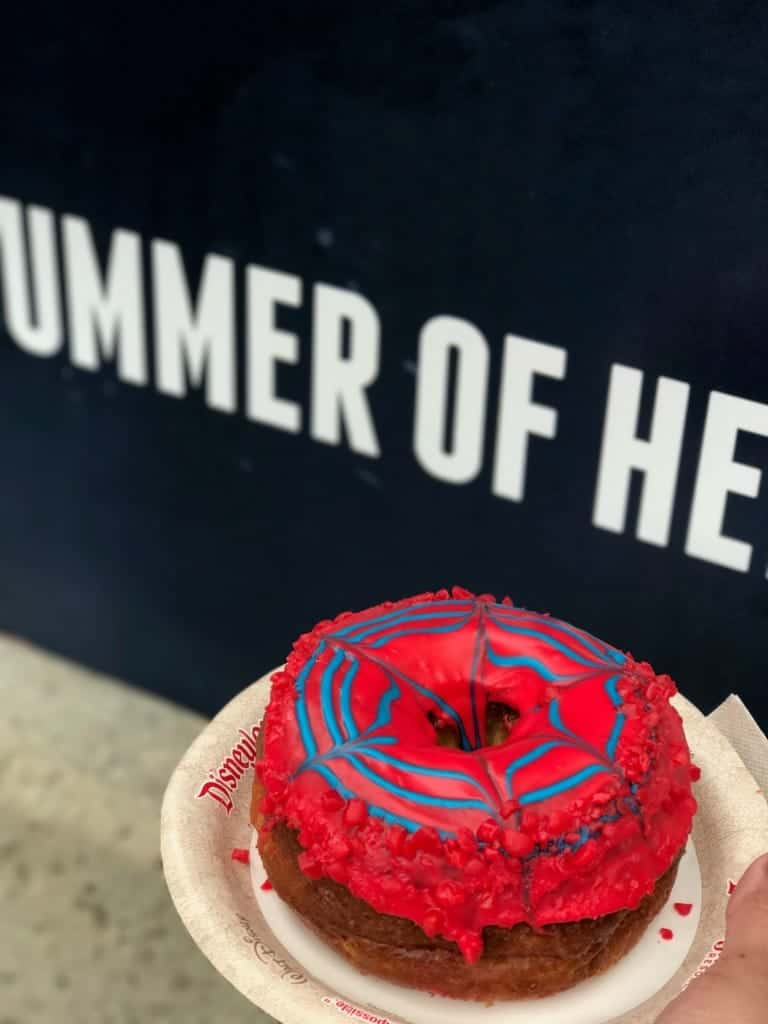 Get your Spider-Man doughnut at Summer of Heroes in Disney California Adventure!