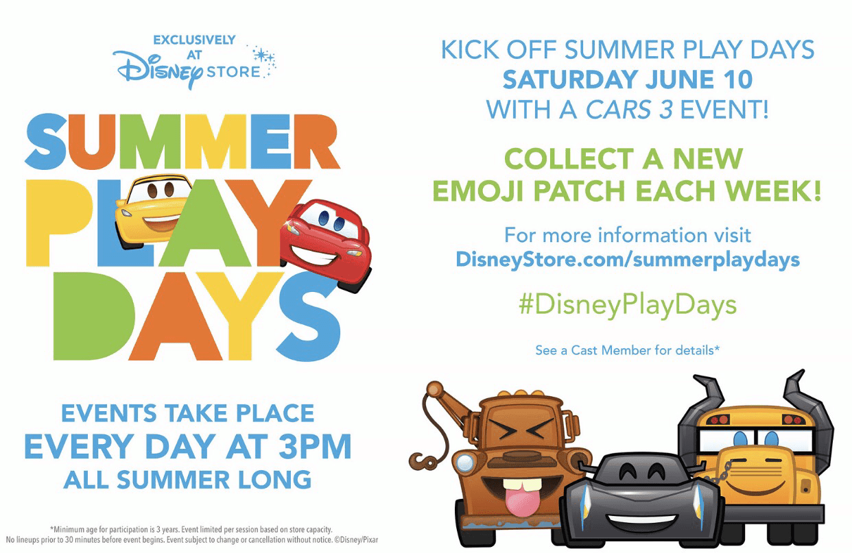Summer Play Days at the Disney Store