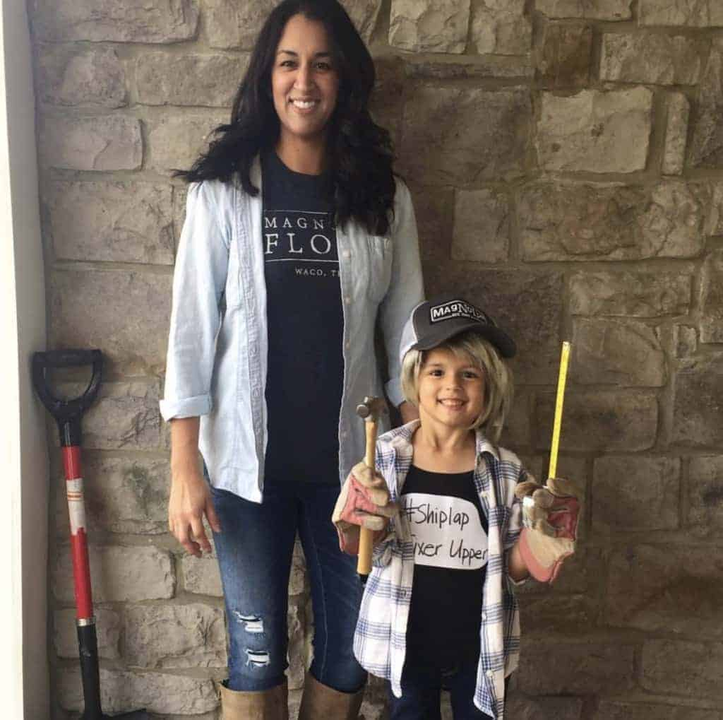 Are y'all ready to see your Fixer Upper? Check out our Chip and Joanna Gaines costume!