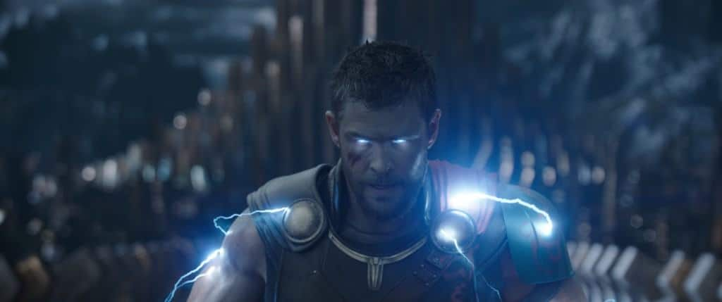 Here's a look at a glowing Thor in the new Thor: Ragnarok trailer and pictures