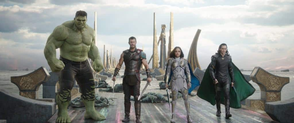My favorite picture from the new Thor: Ragnarok trailer and pictures - the gang's all here.