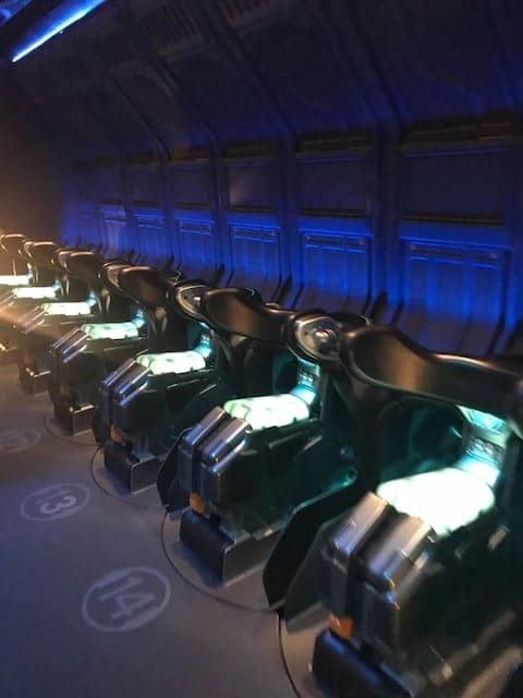 Ride vehicles from Flights of Passage at Pandora- The World of Avatar are worth the wait, but not a 3 hour wait!