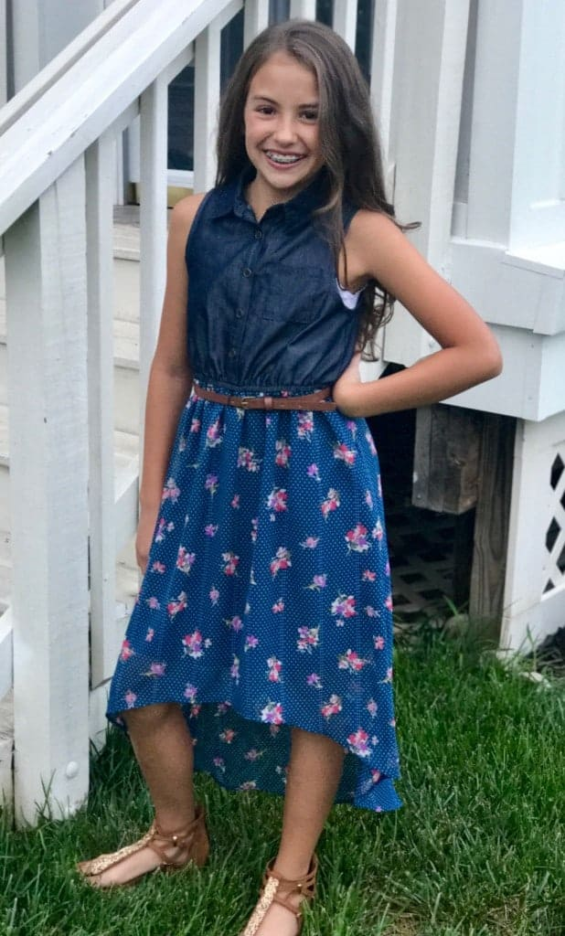My daughter's first day of school outfit she chose while back-to-school shopping!