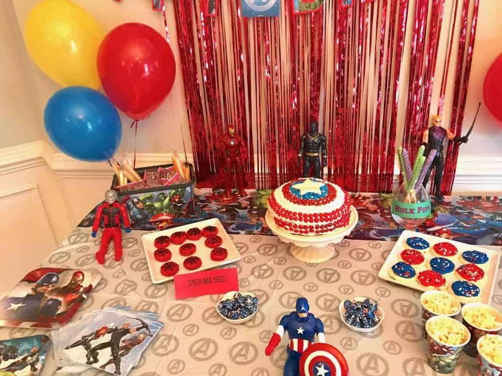 superhero party ideas avengers party games decor food invitations. Black Bedroom Furniture Sets. Home Design Ideas