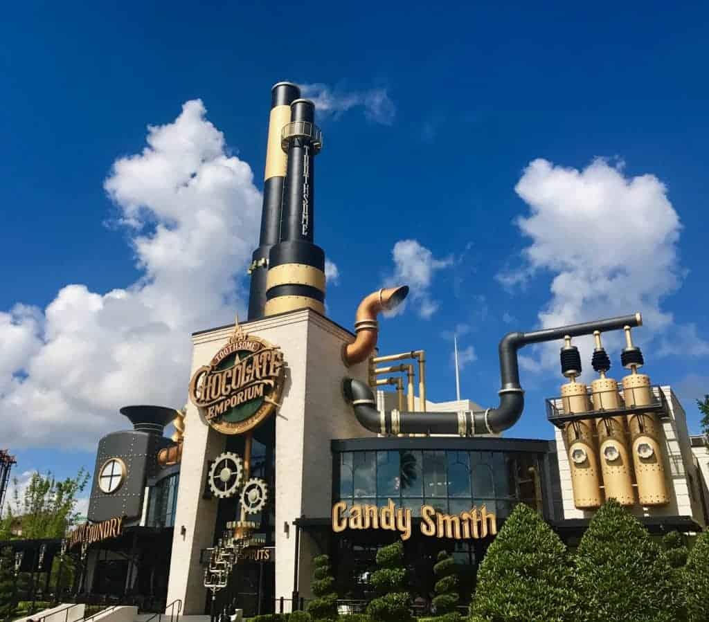 Toothsome Chocolate Emporium is one of the coolest buildings around Universal Orlando Resort.