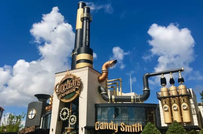 Toothsome Chocolate Emporium is one of the coolest buildings around Universal Orlando Resort.
