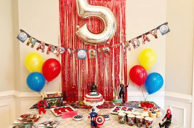 When looking for Superhero party ideas, go simple. It's just as fun!