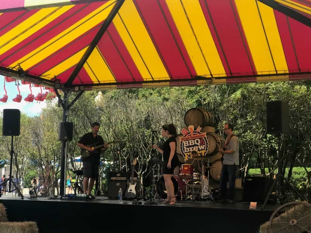 Live music is always a treat at Kings Dominion BBQ & brew fest.