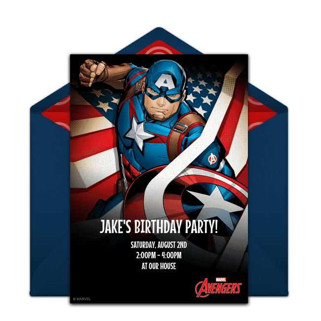 Captain America is the perfect choice for an superhero party idea! He is the first Avenger after all!