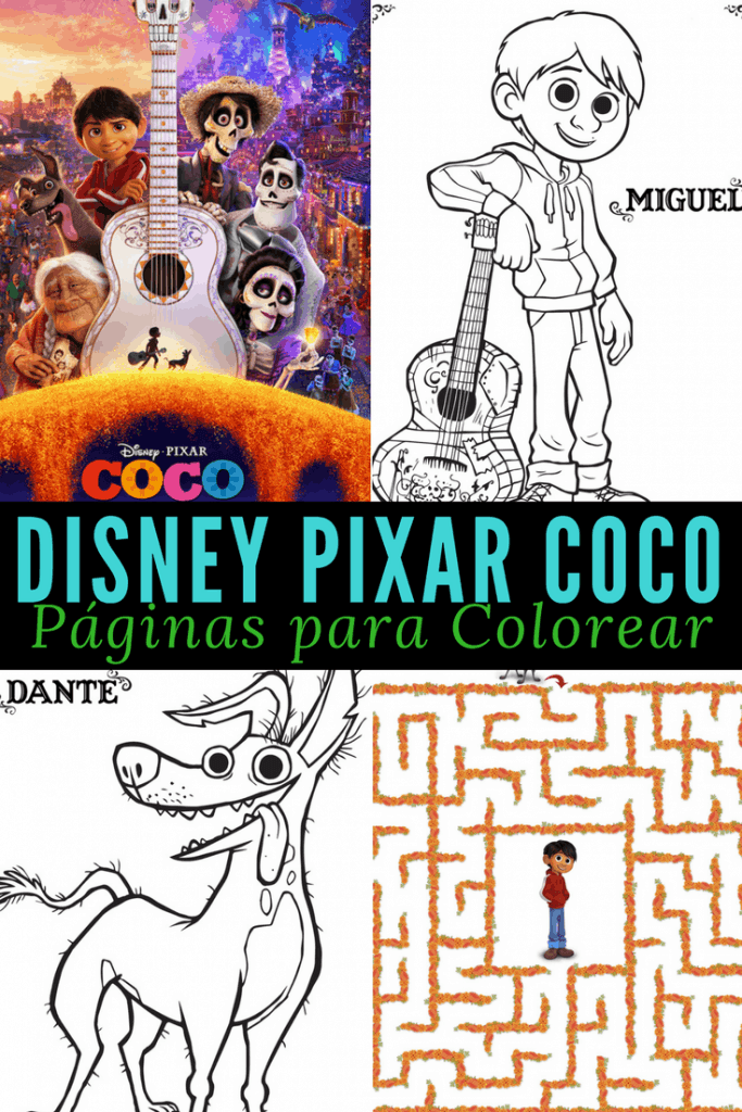 Páginas Para Colorear De La Película Coco Disney Coco Coloring Pages