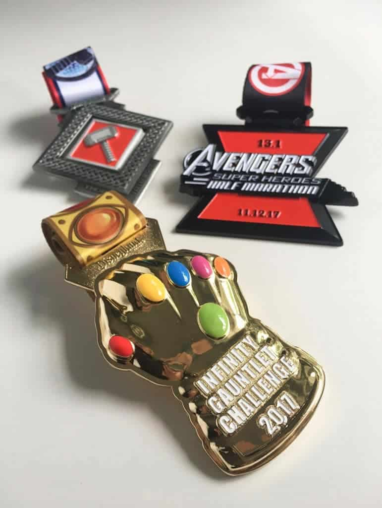 For 19.3 miles of running, you can earn 3 medals for runDisney's Infinity Gauntlet Challenge during Avenger Half Marathon Weekend.