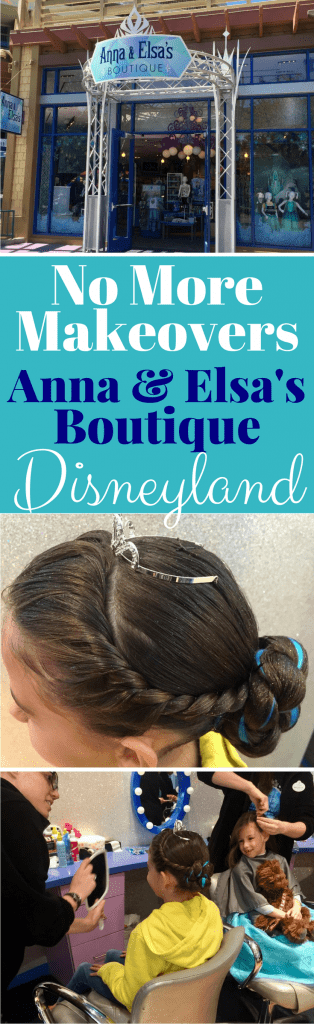 Anna & Elsa's Boutique will no longer be offering makeovers in Downtown Disney in Disneyland. Find out the details here and take a look at pics of the adorable Elsa Cornonation hairstyles.