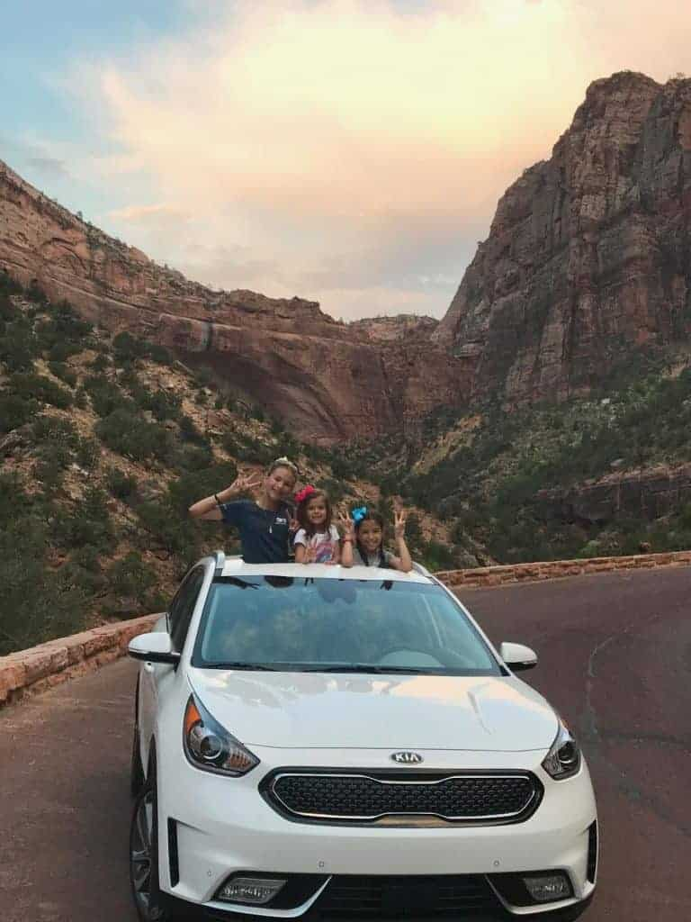 Driving the Kia Niro in Southern Utah.