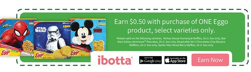 Earn $.50 with your Eggo purchase on Ibotta!