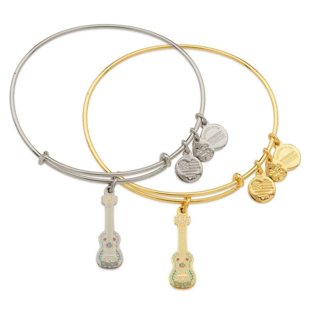 The BEST Coco gifts for women is this Coco guitar bracelet by Alex and Ani. Shiny!
