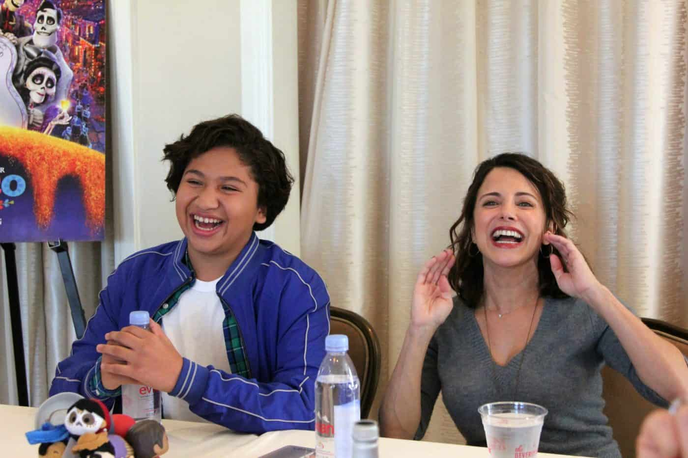 Anthony Gonzalez and Alanna Ubach sing live in an interview for Pixar's Coco!