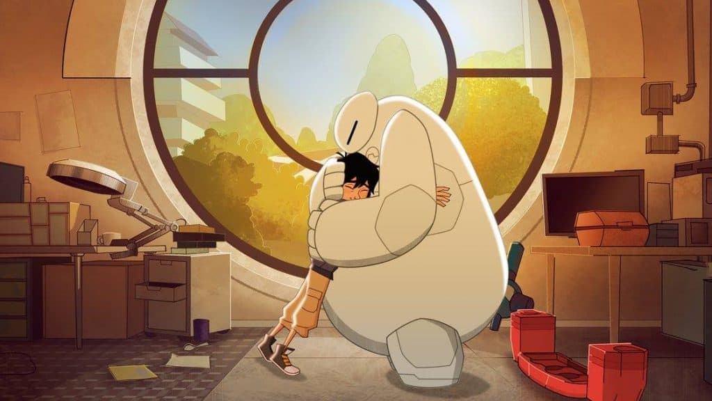 Your favorite heroes are back with Big Hero 6: The Series - Baymax, Hiro, Honey Lemon, Go Go, Wasabi, and Fred.