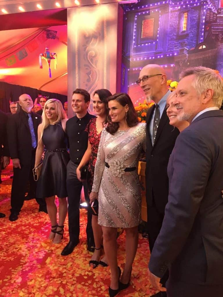 Idina Menzel and Jonathan Groff from Olaf's Frozen Adventure were present at the Coco Red Carpet Premiere.