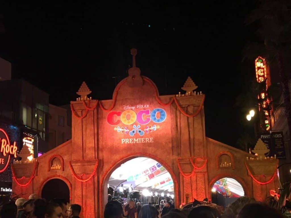 The Coco Red Carpet Premiere was on Hollywood Boulevard.