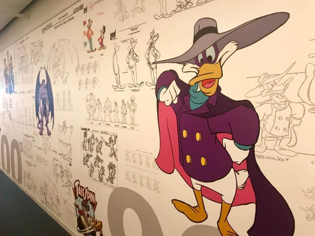 The animation wall in the Disney XD includes one of my favorites - Darkwing Duck!