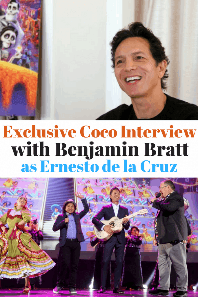 Benjamin Bratt shares all the details in an exclusive interview about Disney Pixar's Coco. He talks about his character, Ernesto de la Cruz, what Coco means for the Latino culture, where he learned to sing, and his favorite moments from Coco.