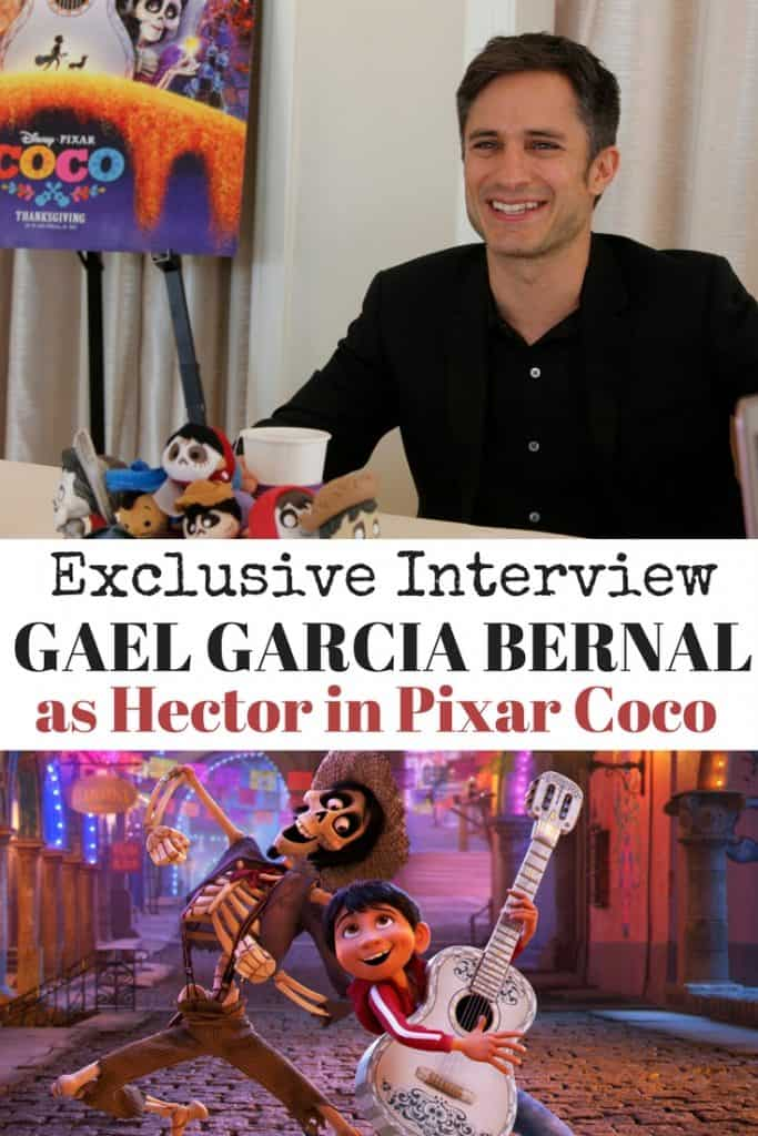 Check out our exclusive interview with Gael Garcia Bernal who voices Hector in Disney Pixar's Coco. Gael Garcia is a Mexican actor and talks about singing with his daughter, why he wanted to be a part of Coco, and what it means to seize your moment. Una entrevista y fotos con Gael Garcia Bernal de Coco.