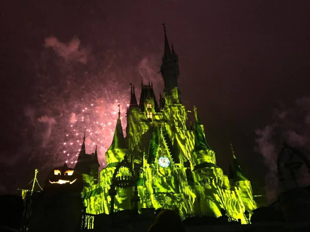 One of the best things to do at Mickey's Not So Scary Halloween Party is watch Happy Hallowishes Fireworks!