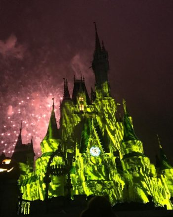 One of the best things to do at 2018 Mickey's Not So Scary Halloween Party is watch Happy Hallowishes Fireworks!