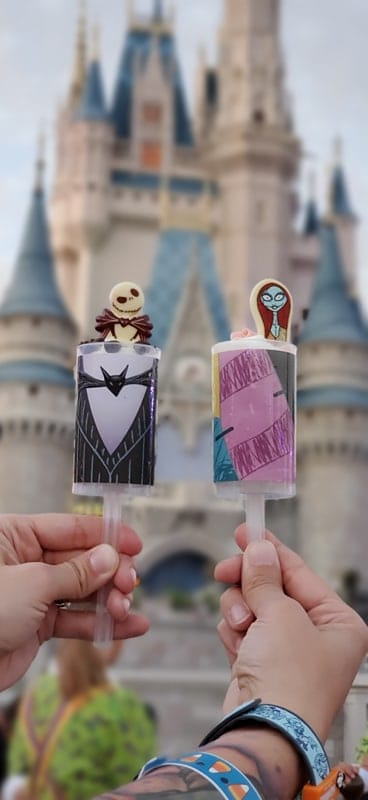Jack and Sally Push Pops from Mickey's Not So Scary Halloween Party