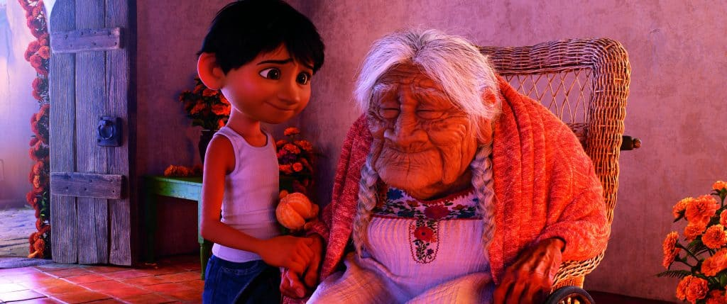 Miguel and Mama Coco have a special bond in Disney Pixar's film Coco!