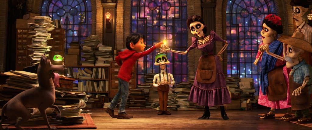 Anthony Gonzalez and Alanna Ubach are the voices of Miguel and Mama Imelda in Disney Pixar's Coco.