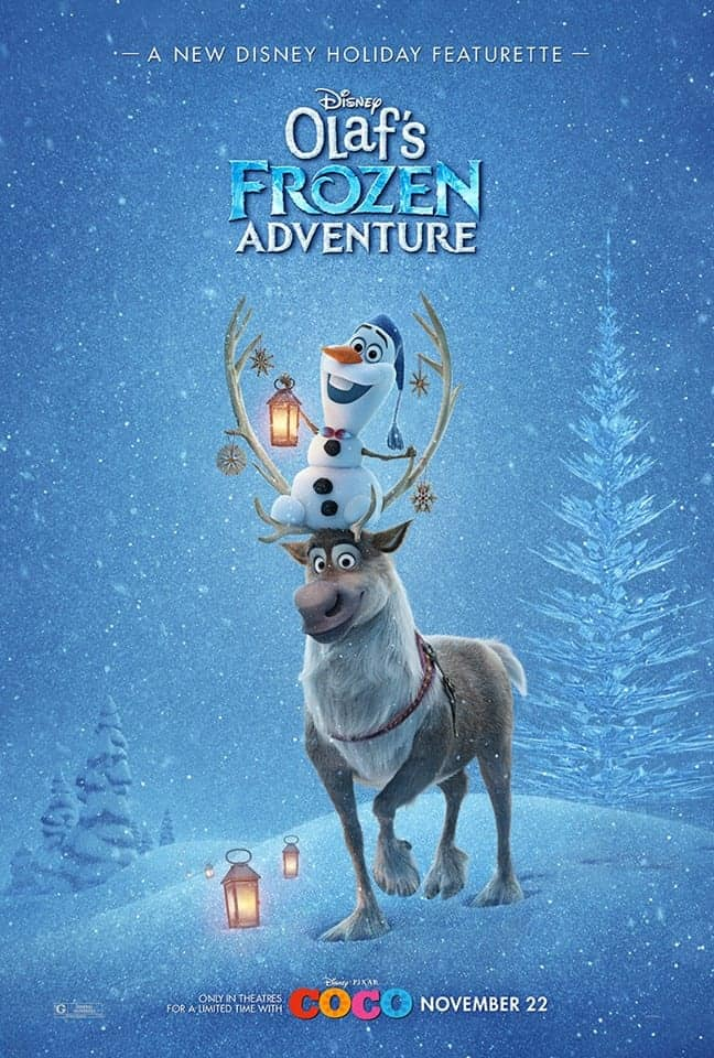 As part of the Pixar Coco Event, we'll screen Olaf's Frozen Adventure and interview the producers and directors.