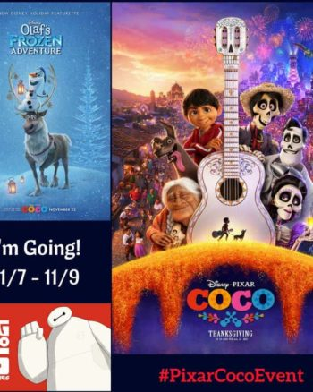 I'm going to the Pixar Coco Event in LA November 7-9, follow along!