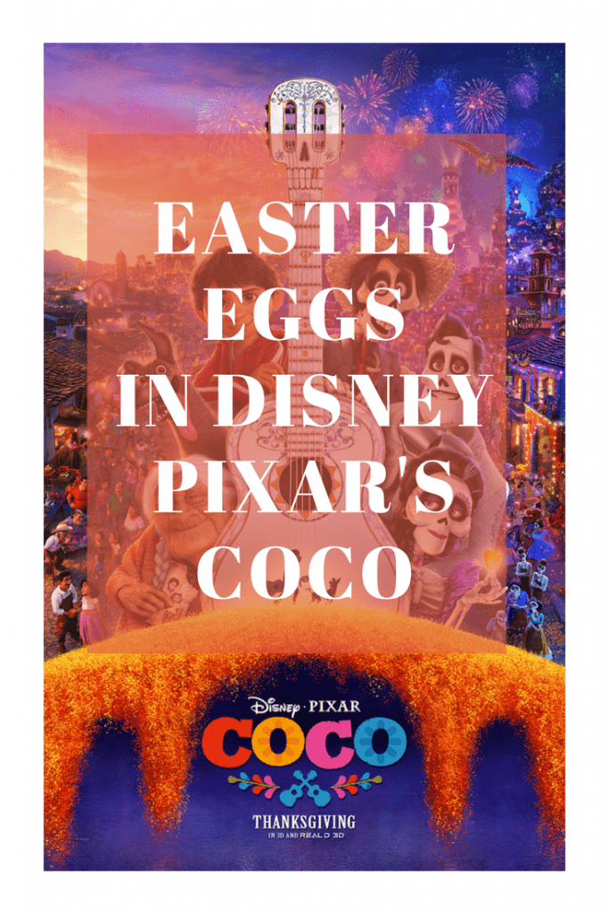 Look for these Pixar Easter Eggs in Coco like the Pizza Planet Truck from Toy Story, characters from Finding Dory, and other objects and characters from Disney movies.