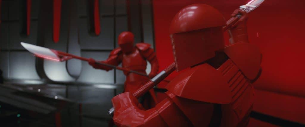 Do the Praetorian Guards in Star Wars: The Last Jedi make it less family friendly?