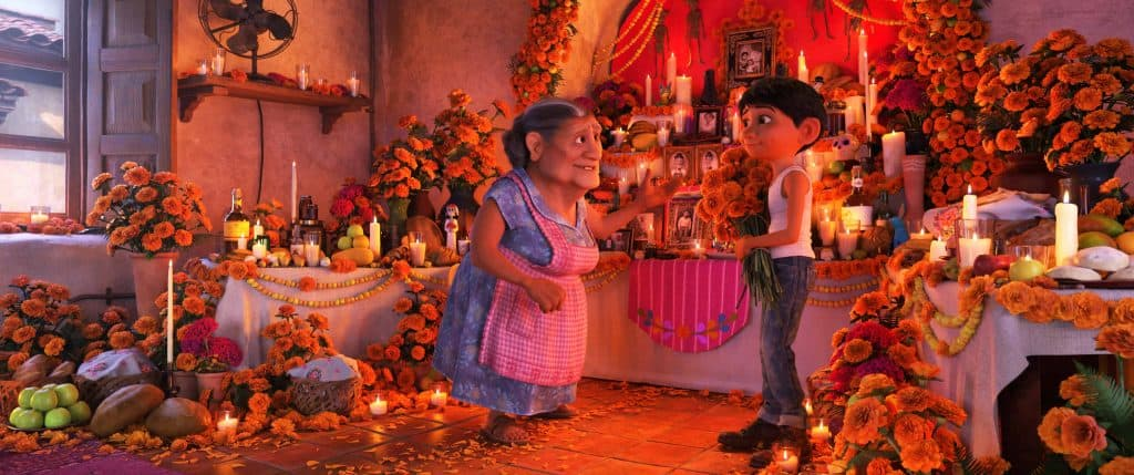 Find the hidden alebrijes in the Rivera's ofrenda - one of the Easter Eggs in Coco.