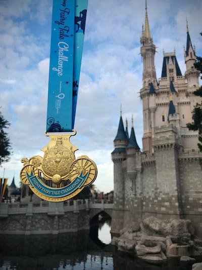 For the Princess Fairytale Challenge finishers, you get a Cinderella Coach medal!