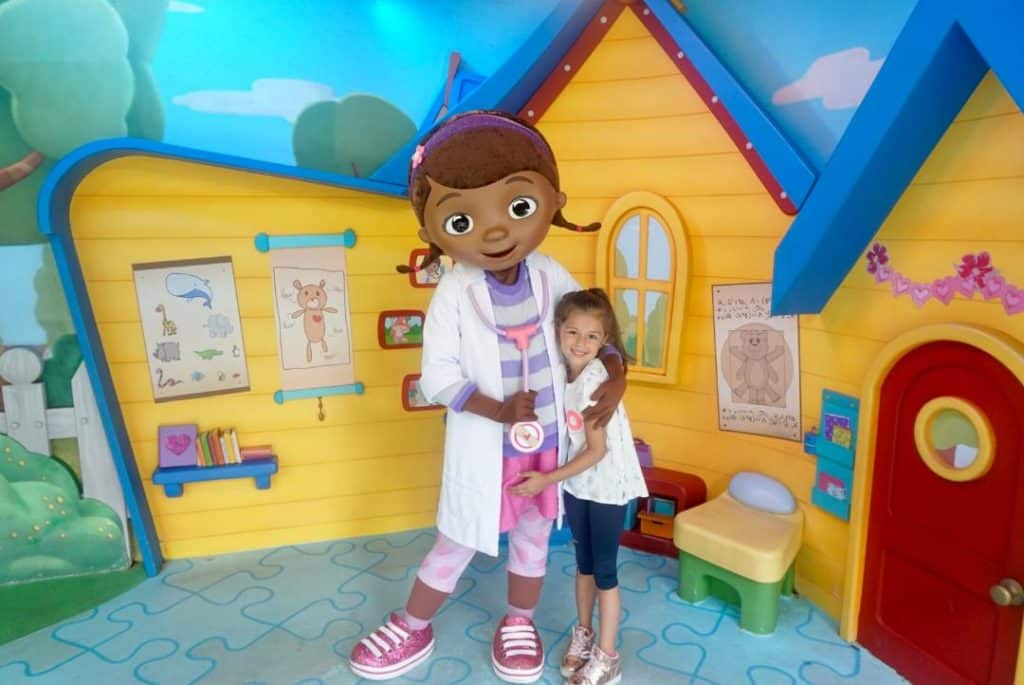Walt Disney World with toddlers includes meet and greets like Doc McStuffins for toddlers at Hollywood Studios.