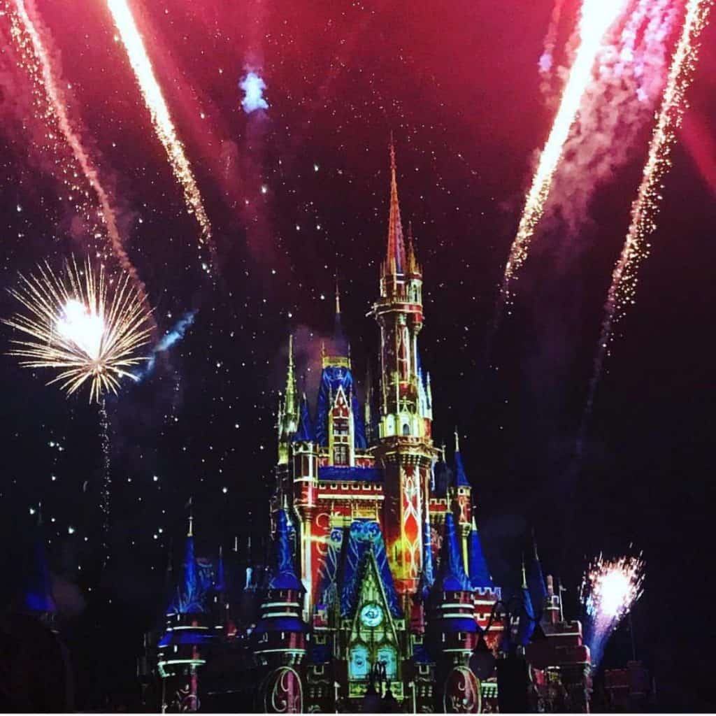 Happily Ever After fireworks may be loud for toddlers, but they'll love the projections and music from the show.
