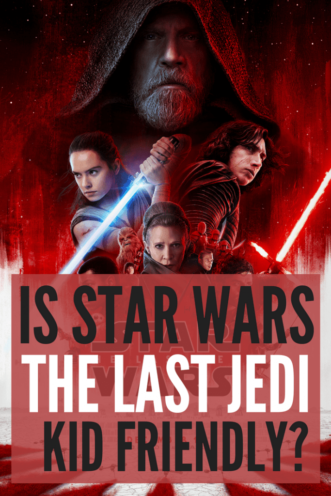 Is Star Wars: The Last Jedi Kid Friendly? Should you take your children? I'll give you the scoop on how family friendly Star Wars: The Last Jedi is including profanity, sexual content and violence from a mom's point of view.